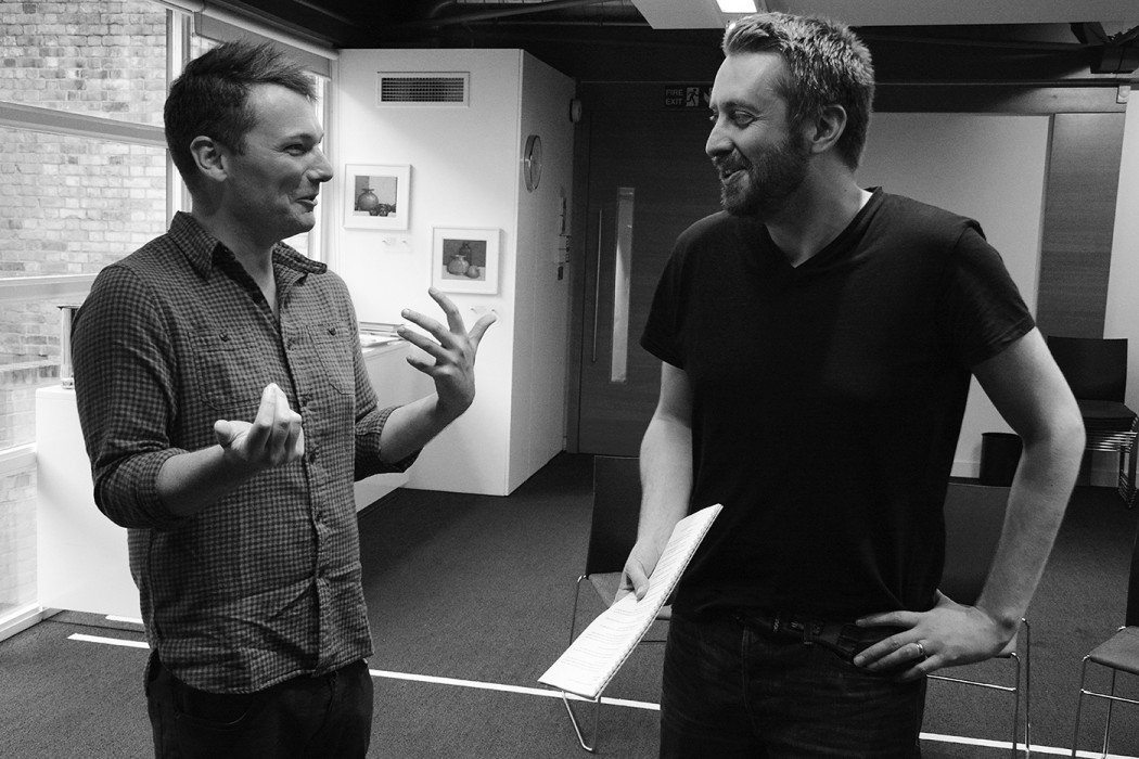 Steven Atkinson and Rob Drummond in In Fidelity Rehearsals - ©Nobby Clark
